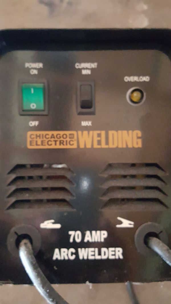 Chicago Electric welding machine 70 amps arc welder for Sale in Riverview,  FL - OfferUp