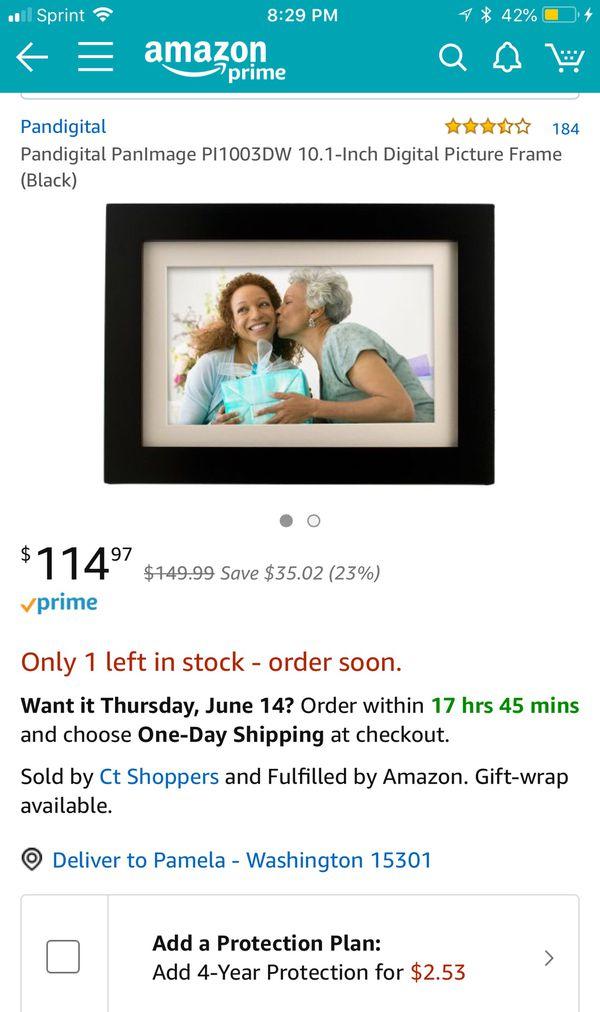 "Panimage 10.1"" Digital Photo Frame-Black (BRAND NEW) for Sale in ..."