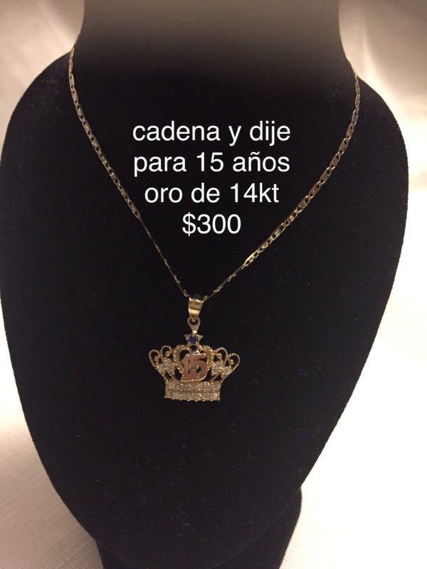 0f4b00f344f3 Cadena para 15 años oro de 14kt garantizado for Sale in Concord