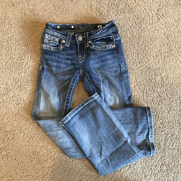 554398fca Girls Bootcut Miss Me Jeans Size 8 for Sale in Olympia, WA - OfferUp