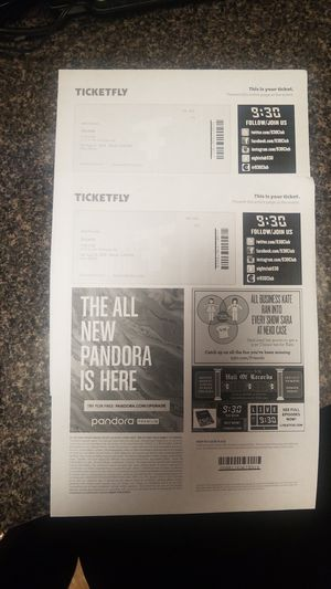 2 tickets for Jeremiah and Teyana Taylor August 11th for Sale in Manassas Park, VA