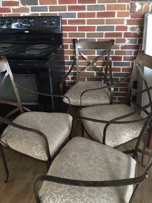 Set Of 4 Cast Iron Chairs With Cushion Seats For In Augusta Ga