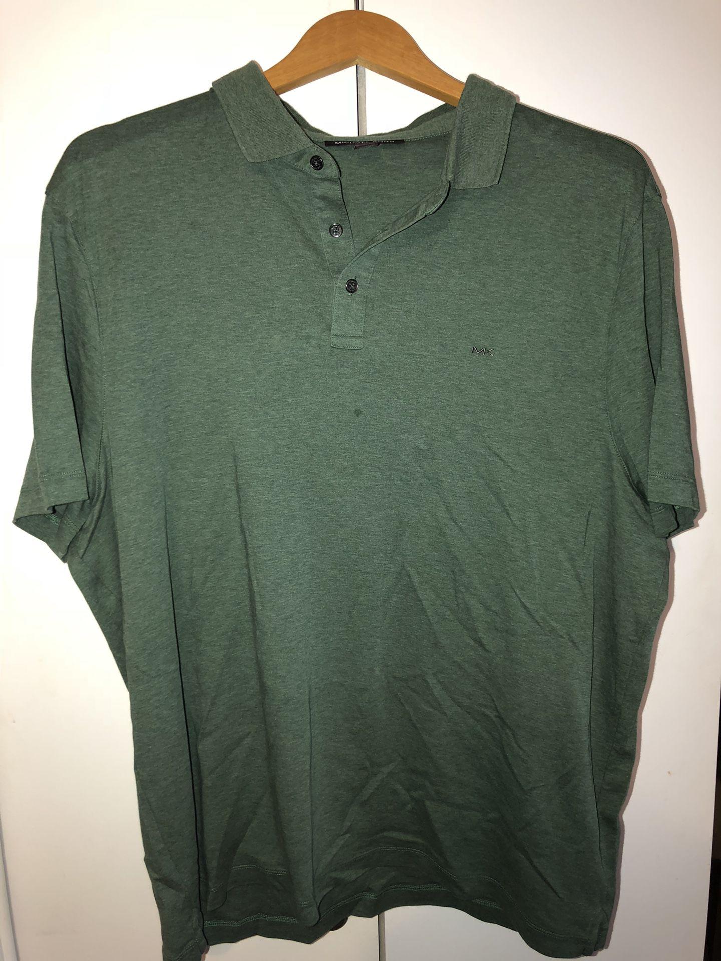 MICHEAL KORS men Green polo shirt