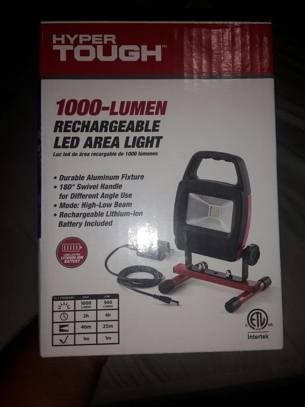 1000 lumen rechargeable led area light hyper tough walmart brand for sale in san jacinto ca offerup