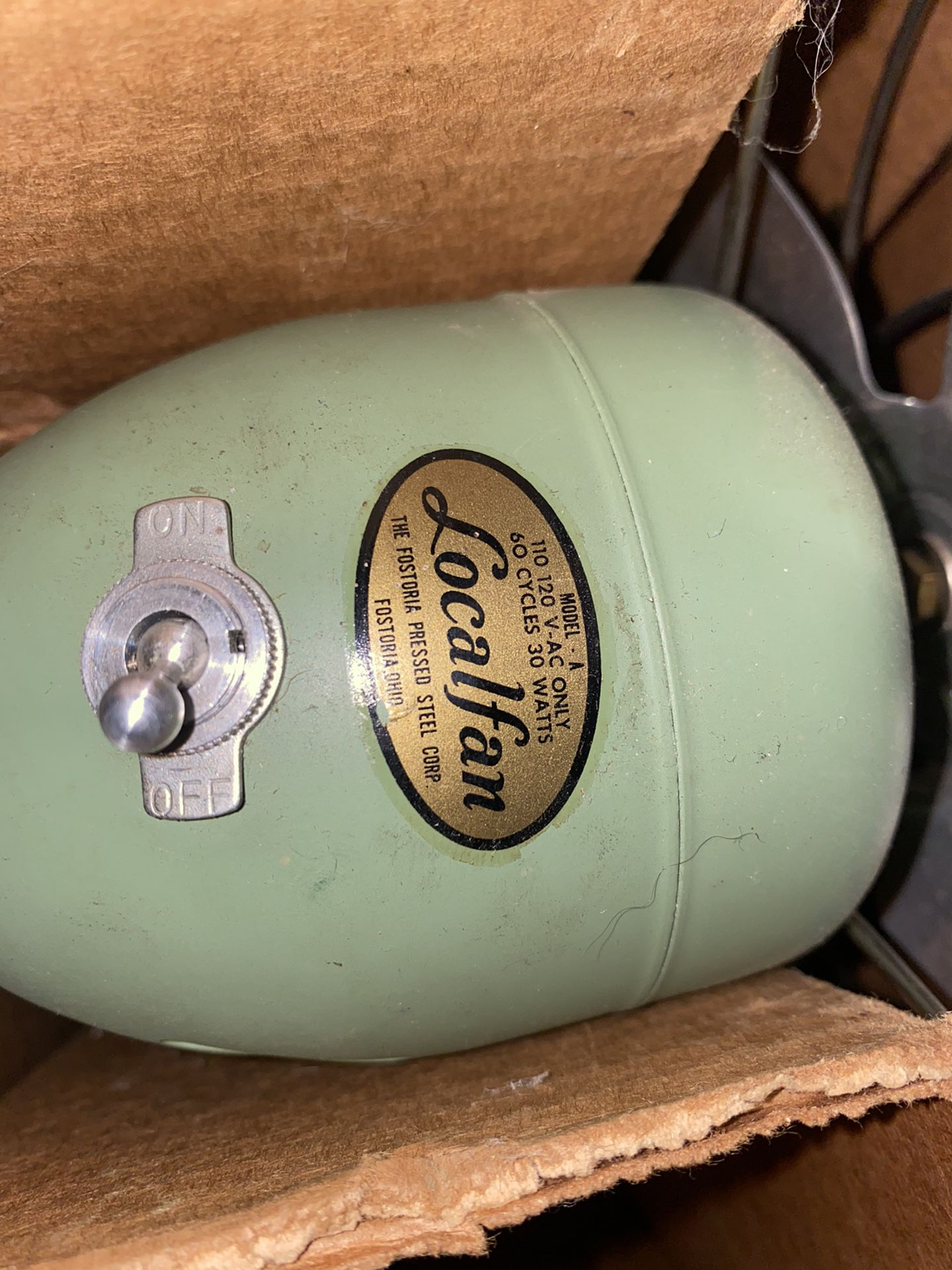 Vintage Fan New In Box