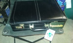 USL Expandable Black Leather Briefcase for Sale in Philadelphia, PA