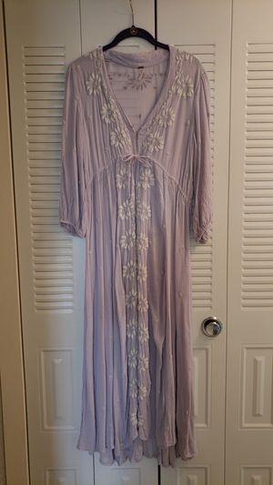 Free People Boho Grey Coton Dress | size S for Sale in Alexandria, VA