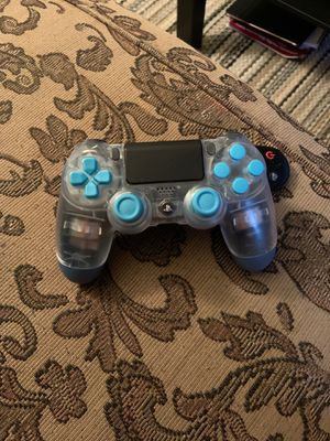 Photo Custom PS4 controller clear/blue - custom PlayStation 4 controller