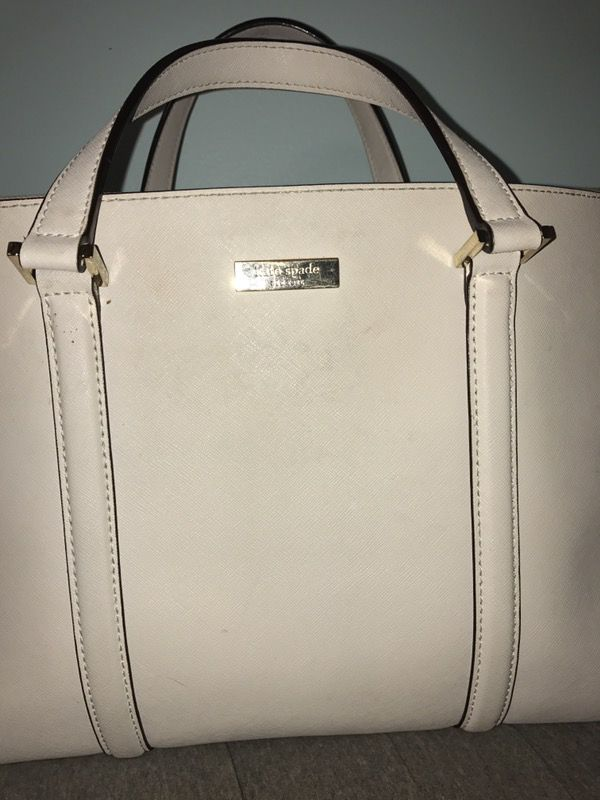 Cream Kate Spade Purse with optional shoulder strap