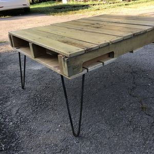 Used, Handmade Rustic Pallet Table with Pin Legs for sale  Bentonville, AR