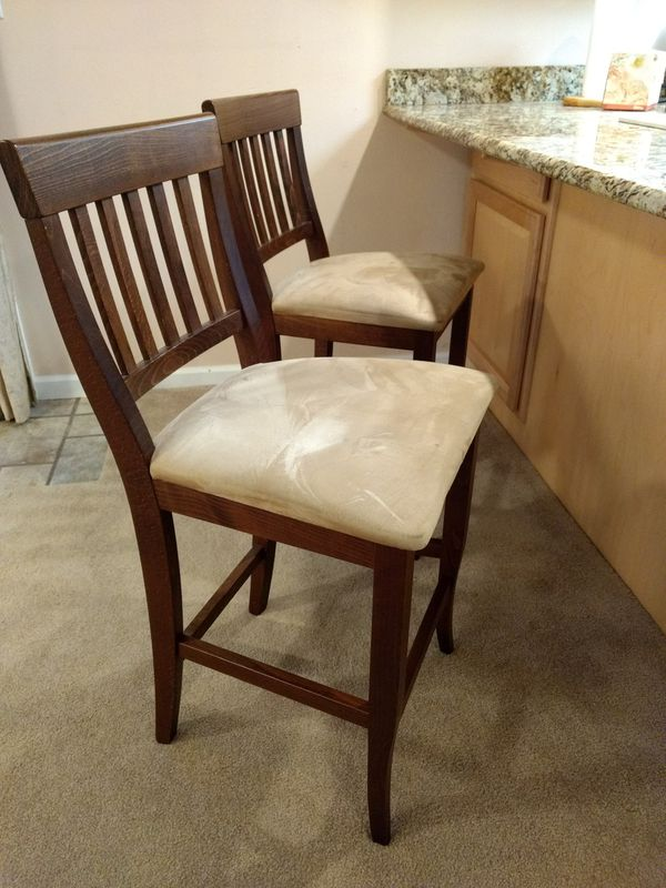 Rare Pier One Import Solid Wood Italian Barstools For
