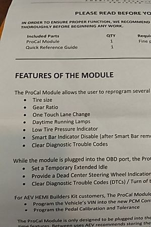 Jeep jk AEV Procal Module  Adjust tire size, Axle Ratio, one touch lane  change mode, for Sale in Victorville, CA - OfferUp
