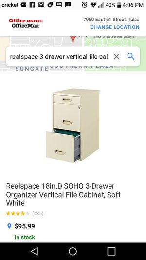 BRAND NEW FILE CABINET WITH LOCK for sale  Tulsa, OK