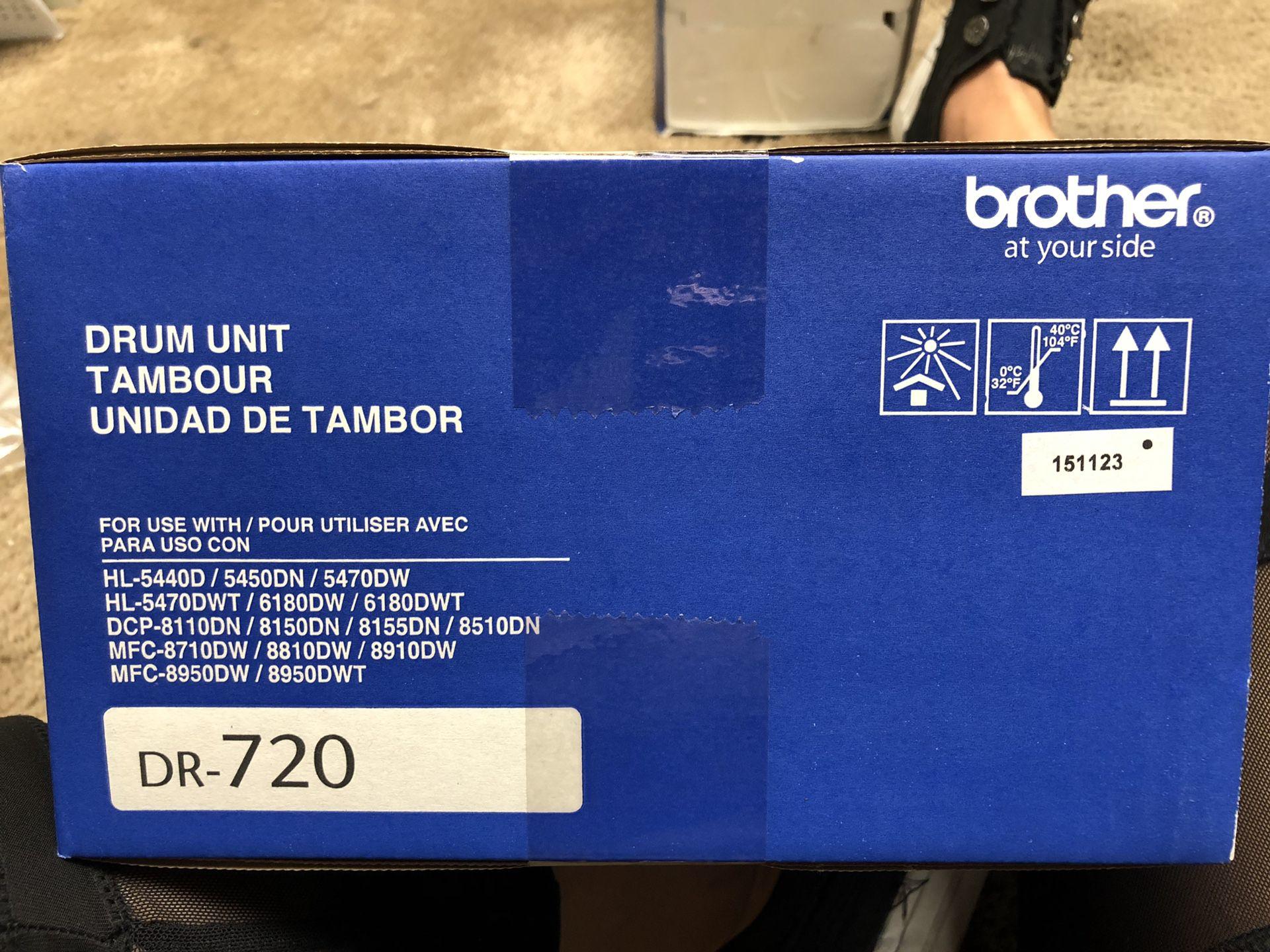 Brother Printer Black Toner DR-720