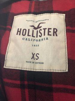 Hollister coat Xs Green+fur Trim Women XS Thumbnail