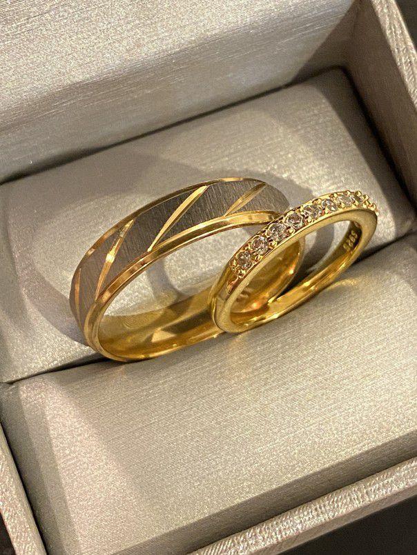 UniseX 18K Gold plated Luxurious Mathing Ring Set - Code GO20