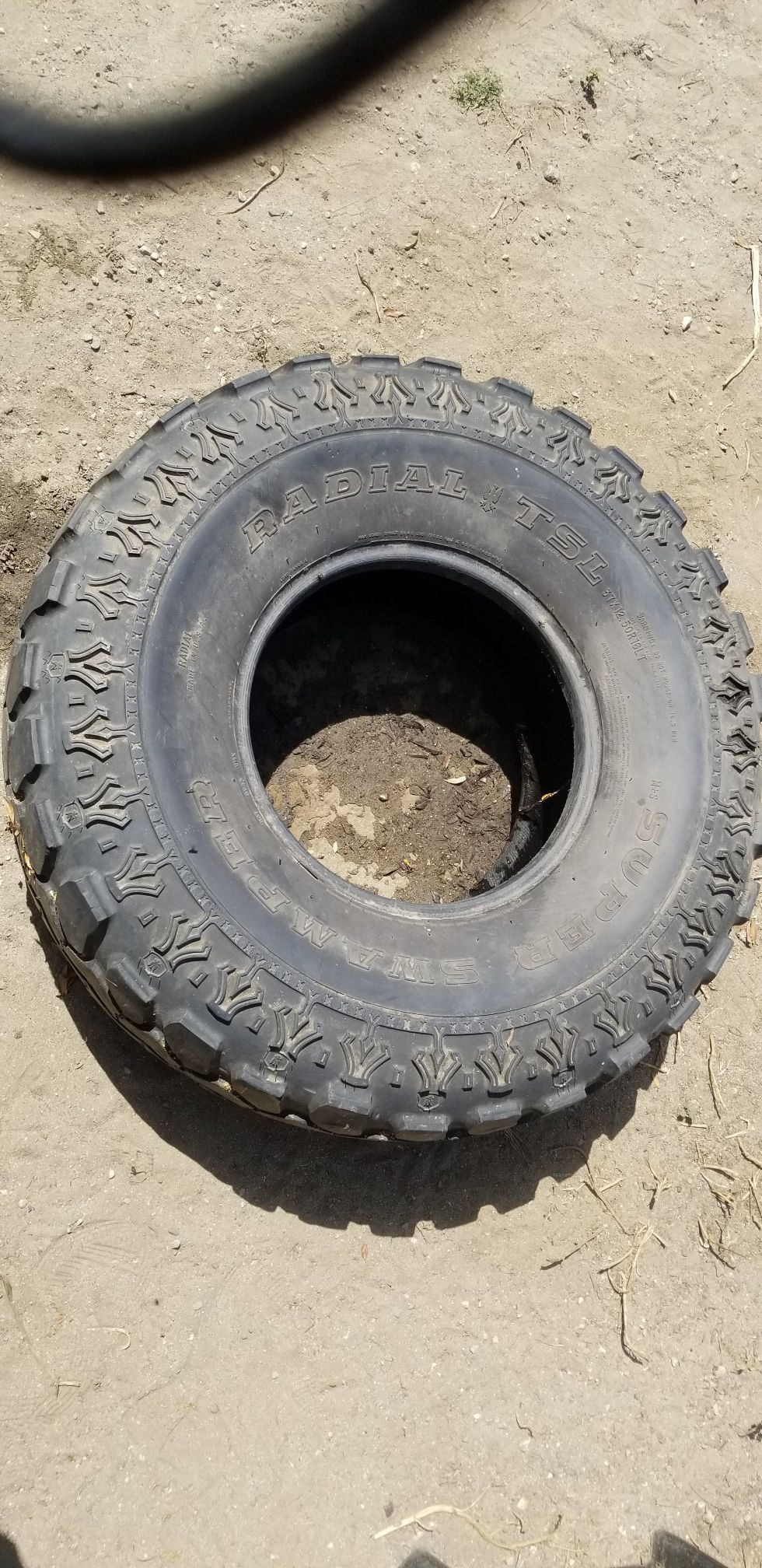 Radial super swamped tire