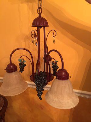 Set of 3 light chandelier and wall light for Sale in Burke, VA