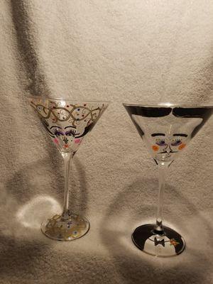Bride/Groom Martini Glasses for Sale in Ashburn, VA