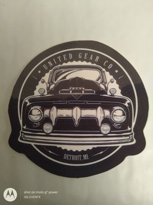 Photo NEW SMALL VINTAGE FORD TRUCK SPEED SHOP TOOLBOX HARDHAT STICKER