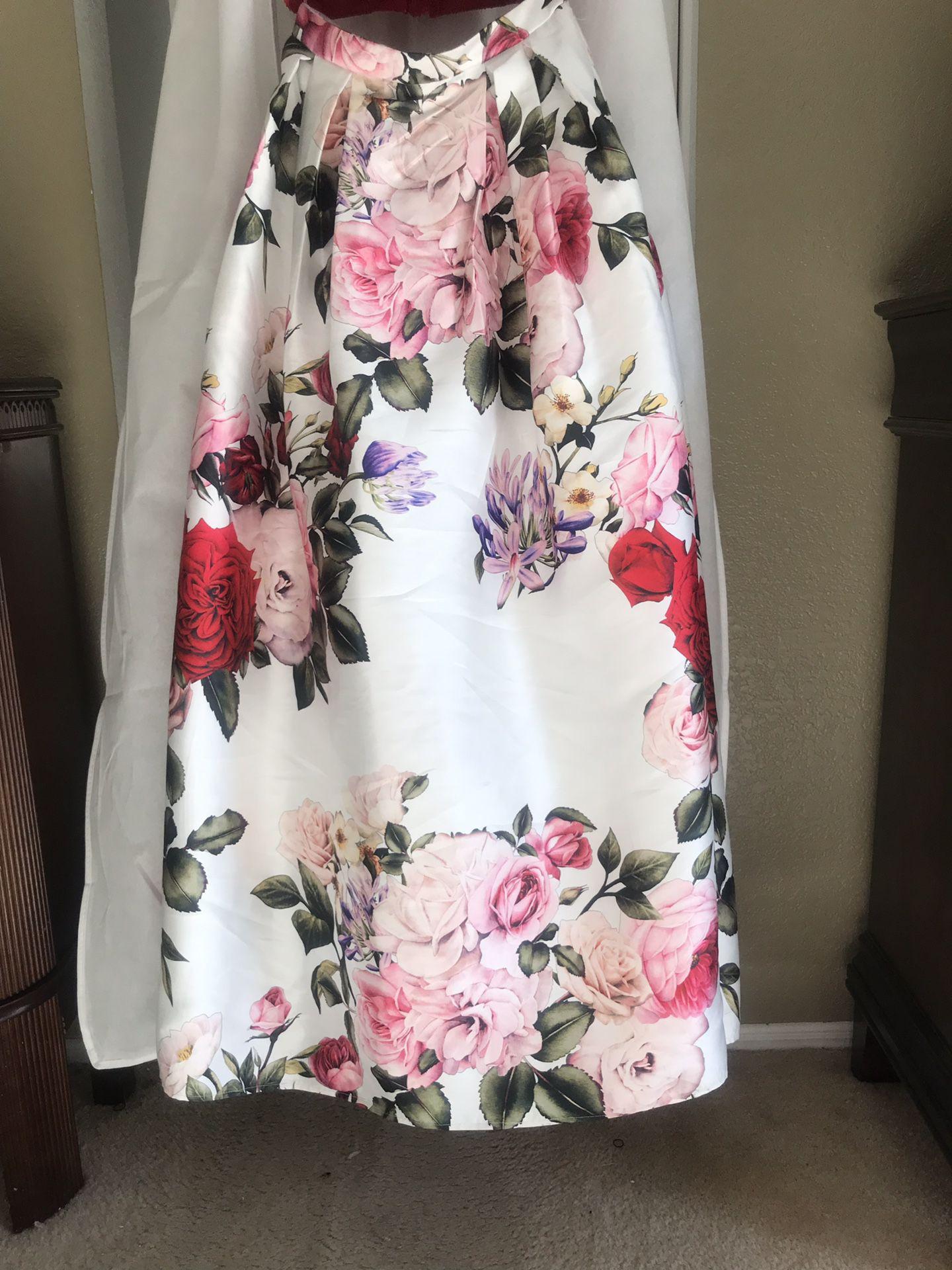 2 Piece/ Long/ Off the Shoulders/ Formal Dress