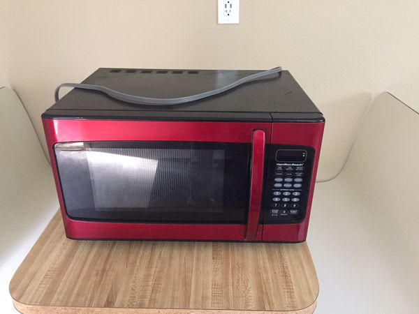 Hamilton Beach Microwave Oven Red 1000w