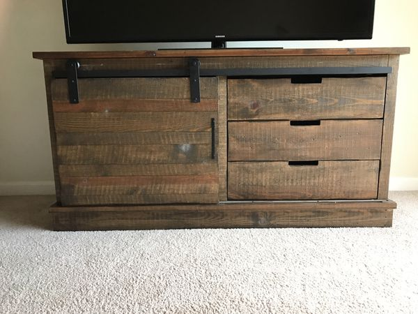 Tv Stand Wood Barn Door Style For Sale In Campbell Ca Offerup