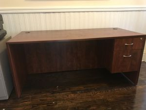 Cherry Office Desk sold separately or in bundle (4) for Sale in Tampa, FL