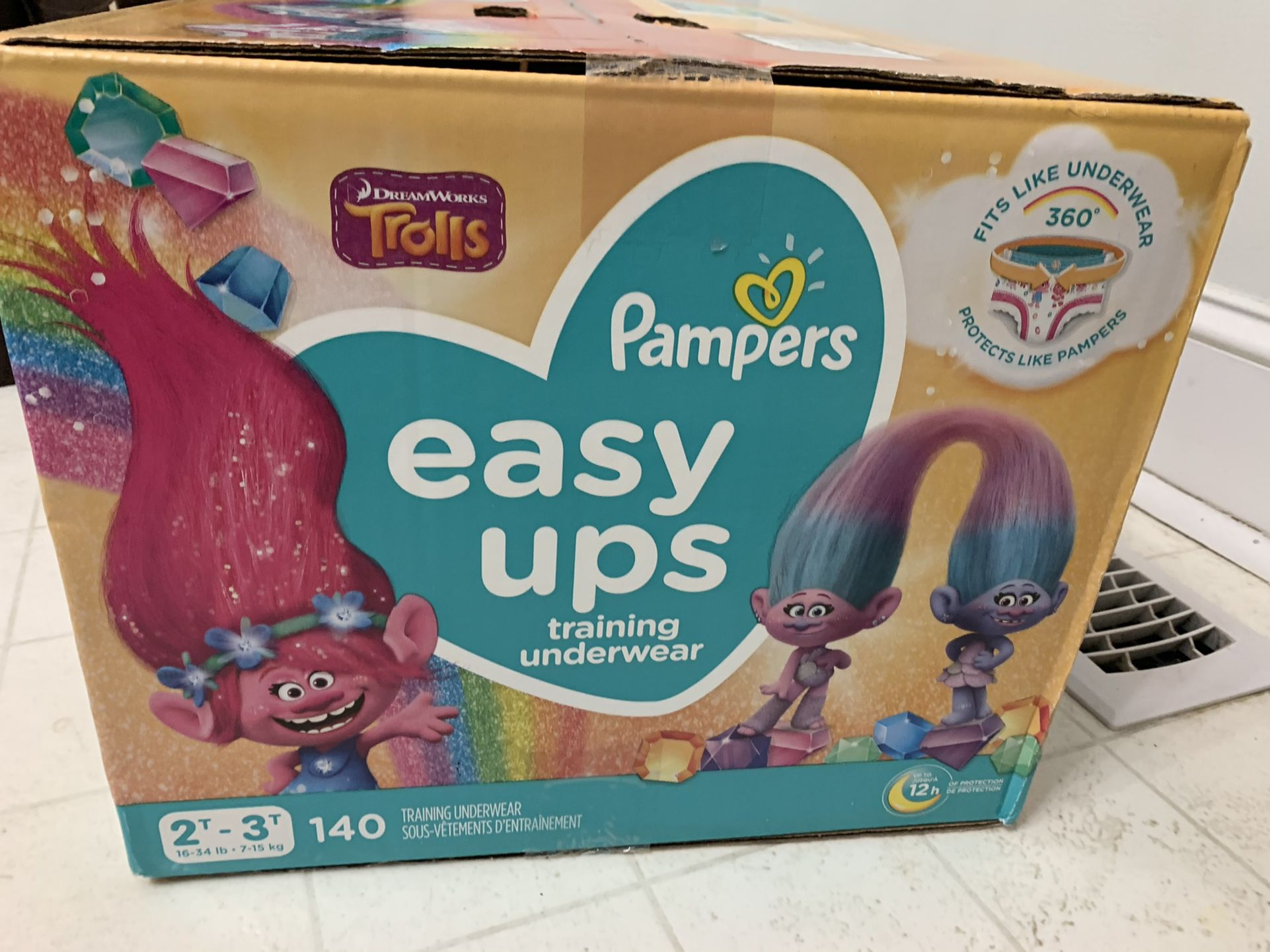 140 Count Pampers Pull Ups