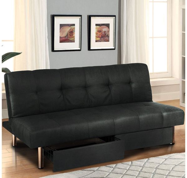 New Foldable Microfiber Futon Sofa Bed With Storage For In Indianapolis Offerup