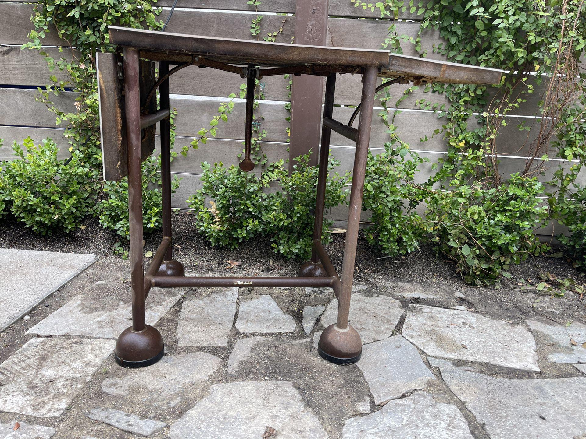 Vintage iron telephone stand base
