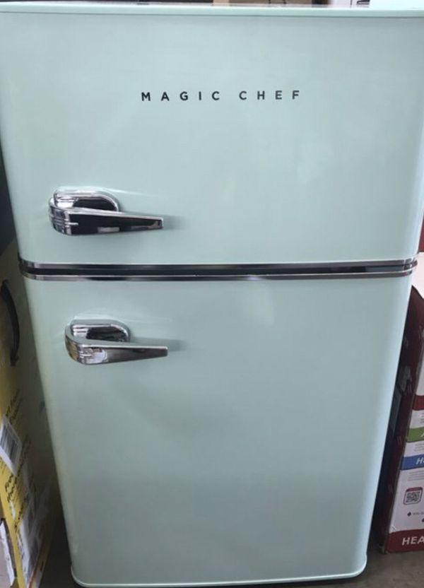 2df8d432c7a Magic Chef Retro 3.2 cu. ft. 2-Door Mini Refrigerator in Mint Green ...