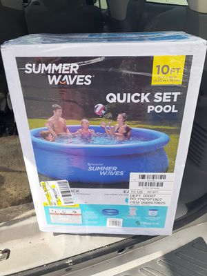 Photo Summer Waves 10 ft X 30 in Quick Set Swimming Pool - Entire Set w Filter & Pump Included $150 FIRM