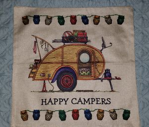 Teardrop trailer camper pillow cover for Sale in Palm Harbor, FL