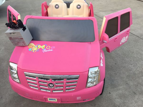 Pink Cadillac Escalade 12volt Electric Kids Ride On Cars Wheels