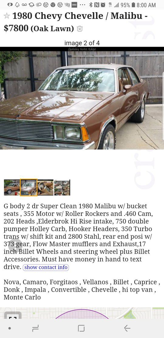 1980 Chevy Impala For Sale