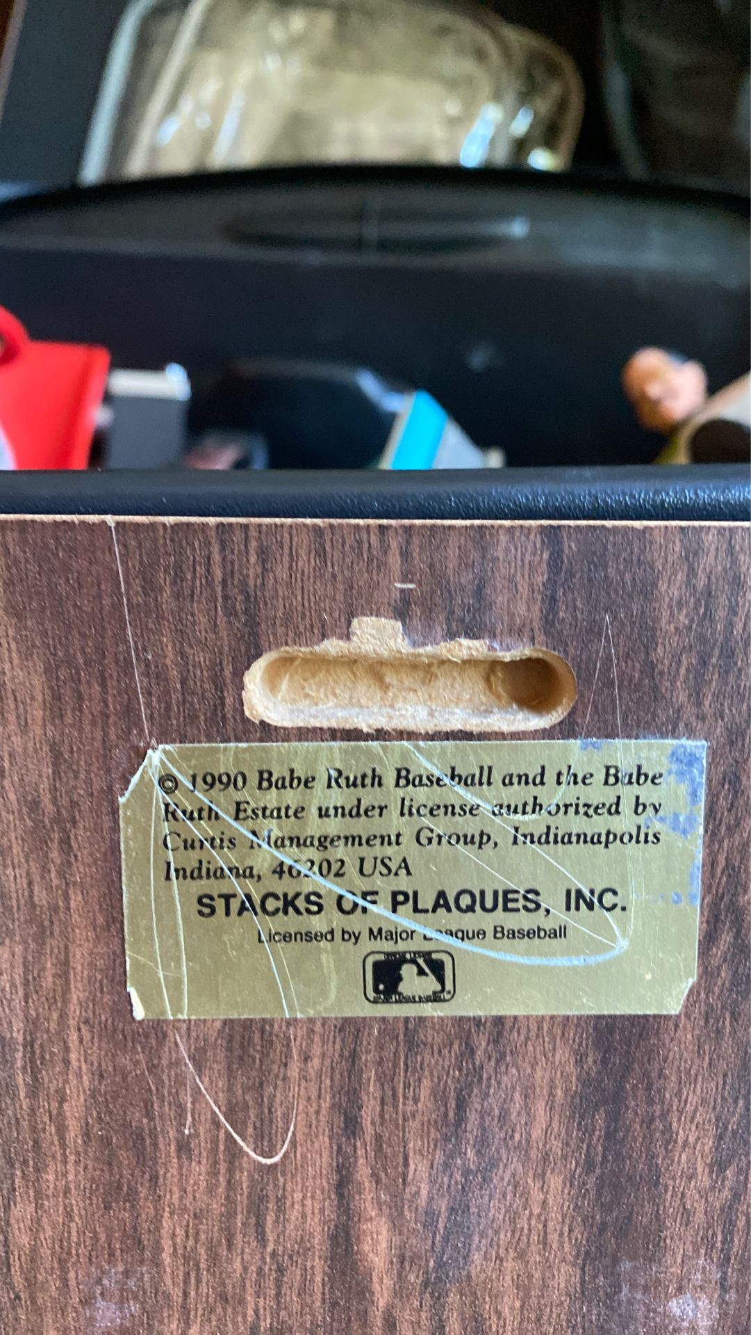Babe Ruth plaque