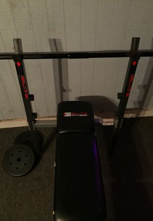 Weight bench with leg curls for Sale in Clayton, NC