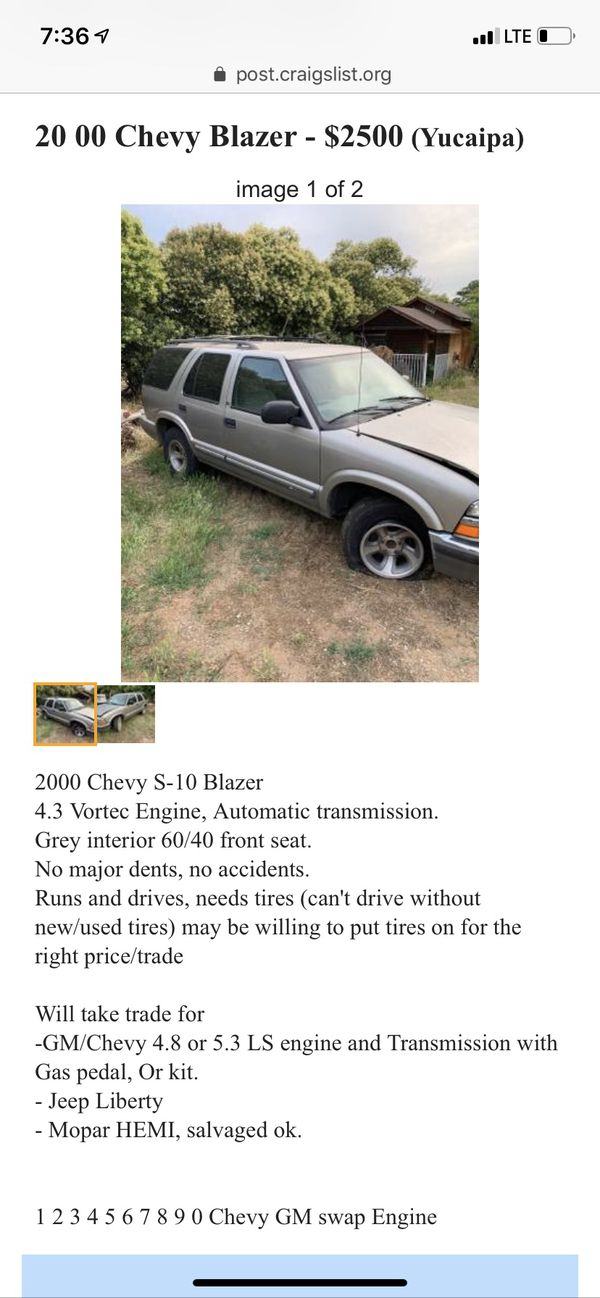New and Used Chevy blazer for Sale in Pomona, CA - OfferUp