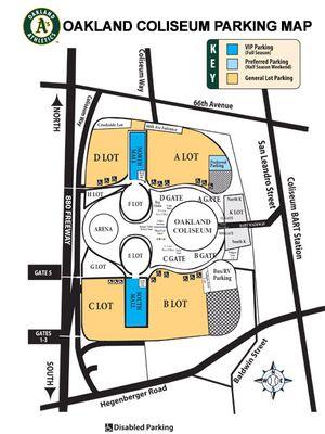 Oakland Coliseum Parking Chart | www.imagenesmi.com