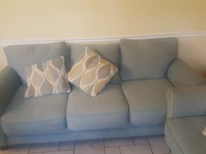 Photo Sofa, Love Seat, Ottoman, Queen Size Bed With Both Drawers and Book Shelf