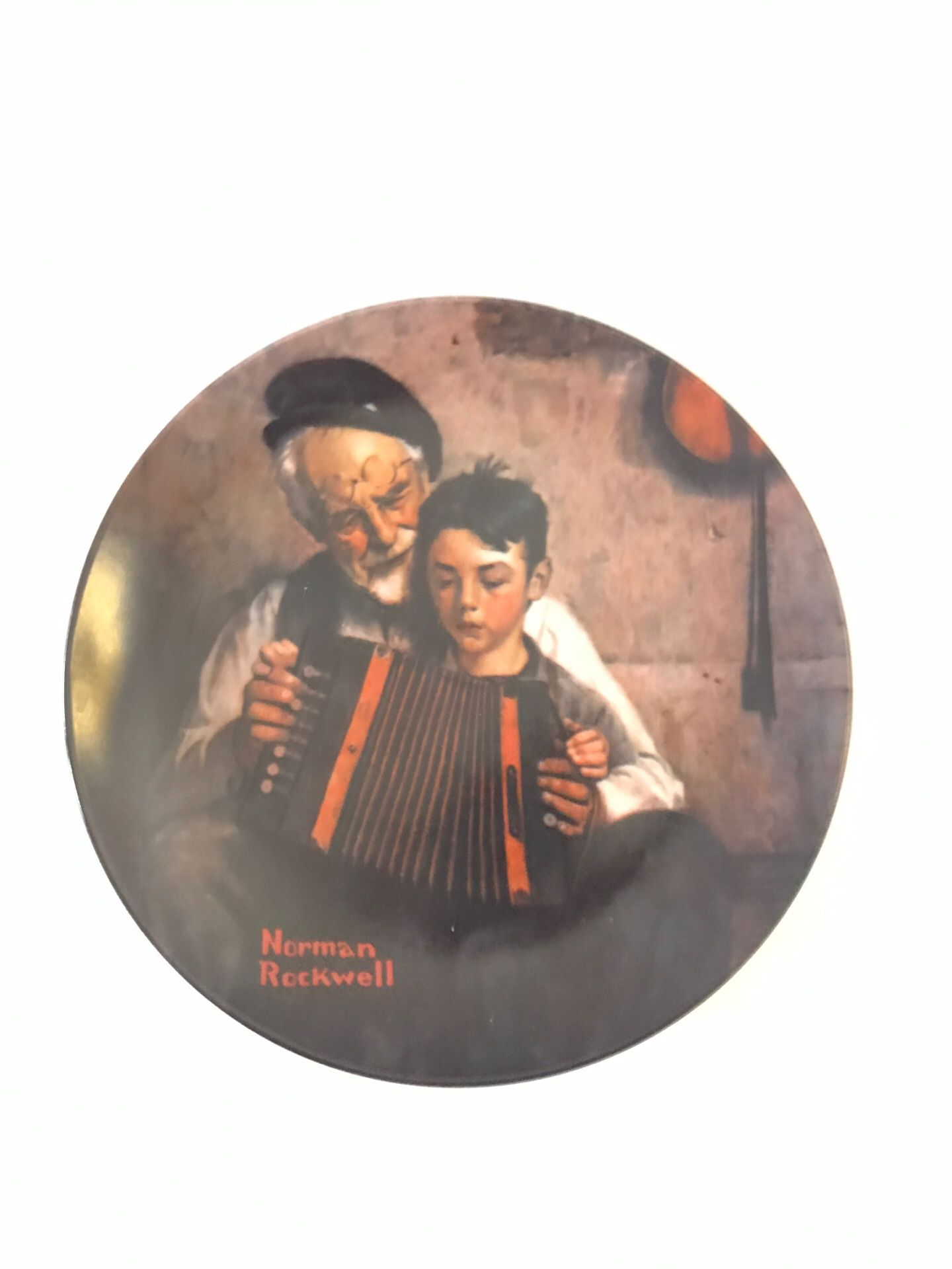 Norman Rockwell's The Music Maker Plate