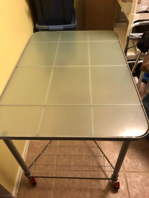 Large glass table for Sale in Montgomery Village, MD