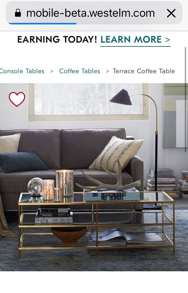 West Elm Terrace Coffee Table And Side Table For Sale In La Habra - West elm terrace coffee table