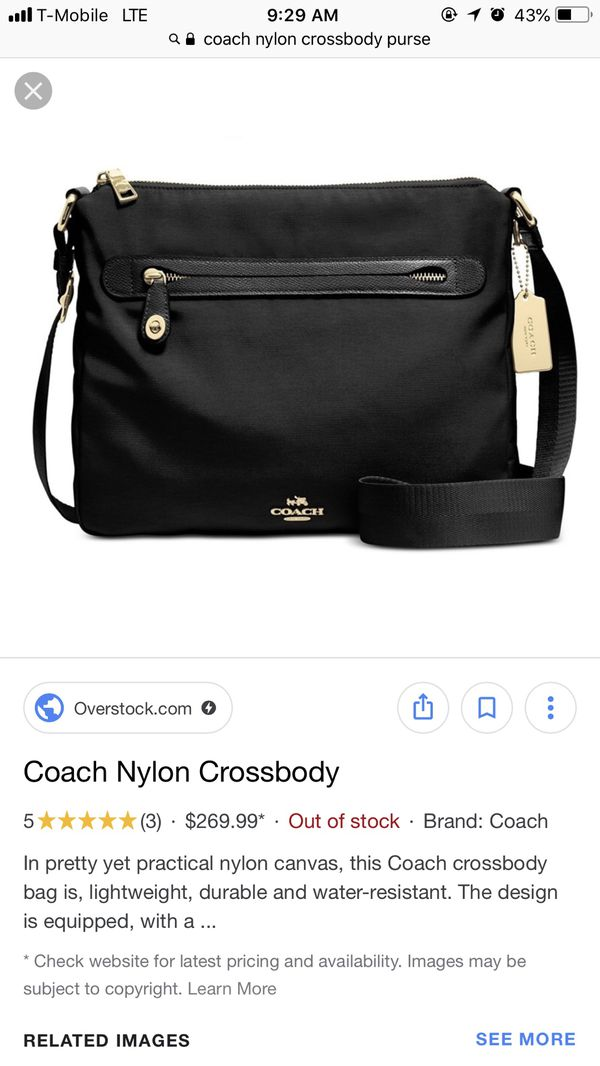 8359f6d2668b1 Coach Nylon Crossbody bag- BLACK for Sale in Kissimmee, FL - OfferUp