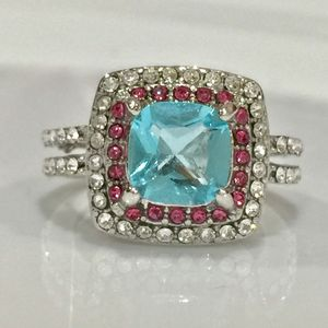 18k gold over silver gemstone ring women's jewelry accessory Christmas gift for Sale in Silver Spring, MD