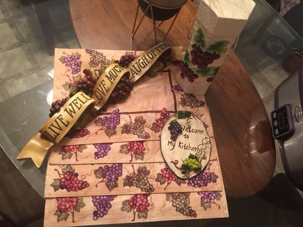 Grape kitchen Decor items for Sale in Durham, NC - OfferUp