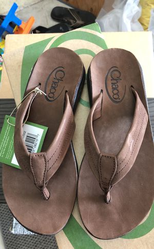 1863a3ea3 Chaco brown   shiitake leather flip flop slippers