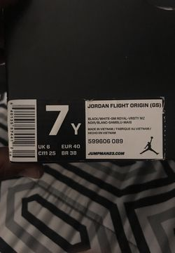 Jordan flight origin (GS) size 7Y Thumbnail