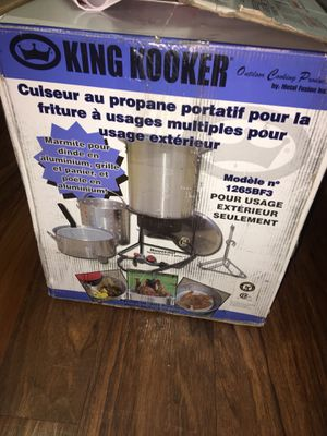 King Kooker 1265BF3 Portable Propane Outdoor Deep Frying/Boiling Package with 2 Aluminum Pots for Sale in Tempe, AZ